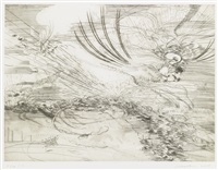 landscape allegories (7 works) by julie mehretu