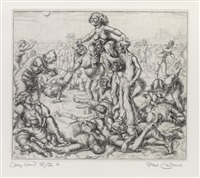 twelve etchings (portfolio of 12 w/justif. & text) by paul cadmus