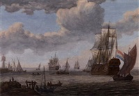 a dutch convoy passing on shore by adam silo