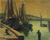 boats at pier by maria veronica liszt