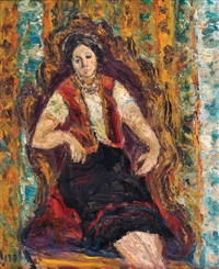 seated woman by isaac frenel