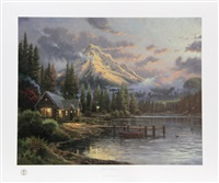 lakeside hideaway by thomas kinkade
