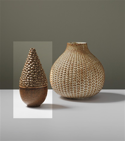 conical topped vase by axel johann salto