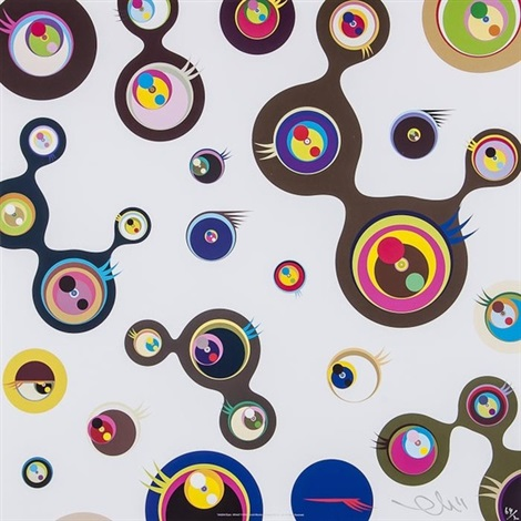 jellyfish eyes white 3 by takashi murakami