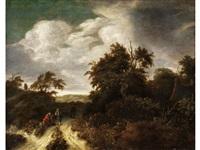 bauern in dunkler landschaft by salomon rombouts