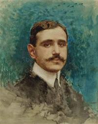 portrait d'homme by léon joseph florentin bonnat