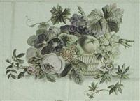 kurv med frugter og blomster by sophie hasle