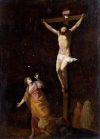 marie-madeleine au pied de la croix by cornelis van poelenburgh