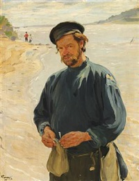 on the bank of the oka river by ivan semionovich kulikov