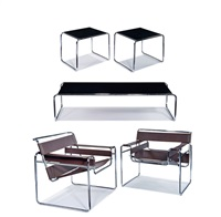 suite of furniture (5) by marcel breuer