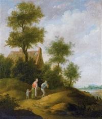 landschaft mit bauernfamilie by pieter jansz van asch