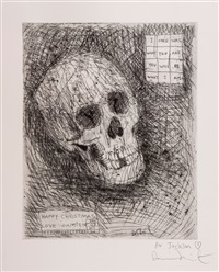 happy christmas (skull) by damien hirst