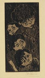 lauschende kinder by otto pankok