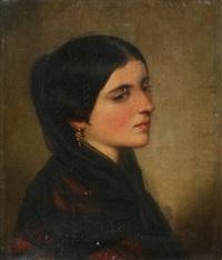 portrait d'une tsigane by nicaise de keyser