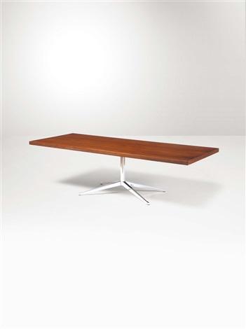 Tavolo con struttura in ferro cromato e piano in legno von ...