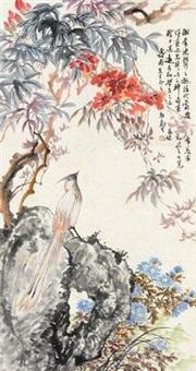 绶带 立轴 设色纸本 by ma wanli