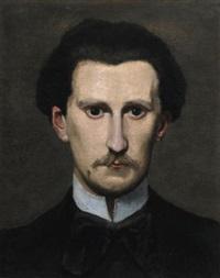 fragment du portrait d'edmond maitre by frédéric bazille