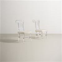 pair of chairs from the helena rubinstein residence (pair) by ladislas medgyes