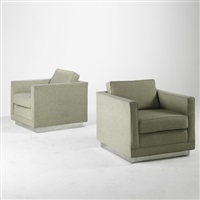 club chairs (pair) by roger sprunger