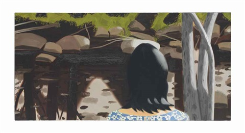 ada in front of black brook by alex katz