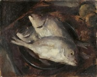 still life with fish by irmin henkel