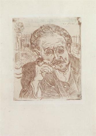 homme à la pipe portrait du docteur gachet by vincent van gogh