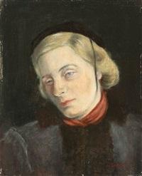 bildnis einer dame mit schwarzer kappe by wilhelm lachnit