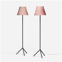 floor lamps (pair) by jacques adnet