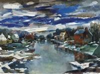 le dégel sur la lys by albert saverys