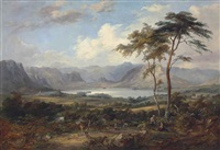 a mountainous lake landscape, traditionally identified as coniston water by jane nasmyth