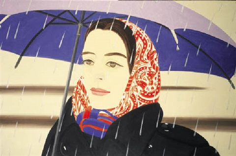 blue umbrella 2 by alex katz