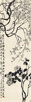 寒梅山茶图 (plum blossom and camelia) by qi baishi