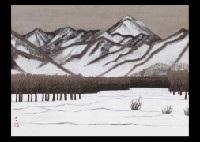 winter mountain by kyujin yamamoto