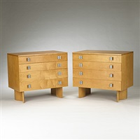 cabinets, model s-402 (pair) by j. robert swanson, pipsan swanson saarinen and eliel saarinen