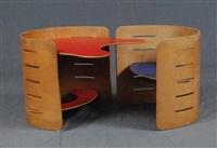 paire de chaises d'enfant transformables en bureau (set of 2) by kristian solmer vedel
