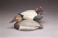 canvasback (pair) by lemuel t. and stephen ward