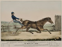 the celebrated trotting horse trustee as he appeared in his 20th mile by nathaniel currier