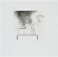 the lathe and the fire (t.92) (from six fairy tales from the brothers grimm) by david hockney
