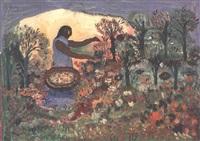 la cueilleuse de fleurs by hector hyppolite