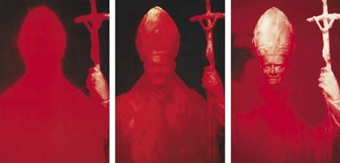 red pope i-iii (3 parts) by andres serrano