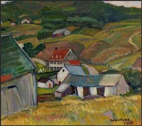 village port-au-persil, pq, white barn by nora frances elisabeth collyer