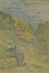 jeune bretonne by edward grenet