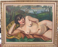 femme nue allongée by andré favory