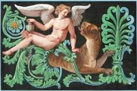 mytologisk figur och djurkomposition by jonas akerstrom