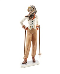 al monti model of skier by abele jacopi