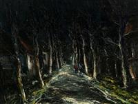 les phares sur la route by maurice de vlaminck