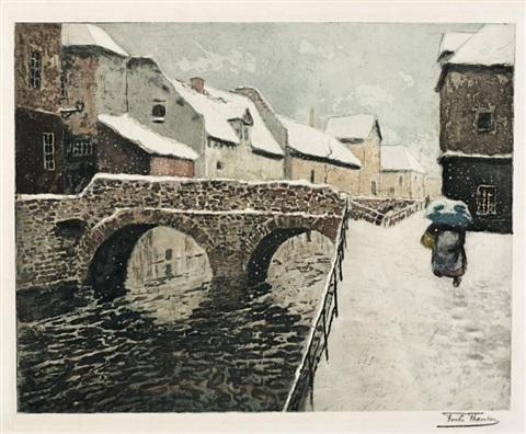 pont damiens by frits thaulow