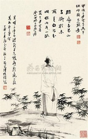 高士图 by zhang daqian