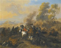 a cavalry battle by dirk maes