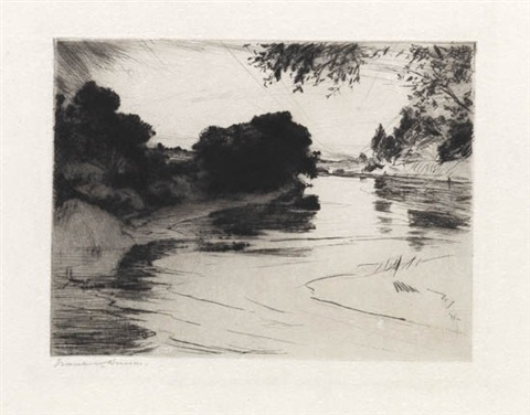 canada river by frank weston benson